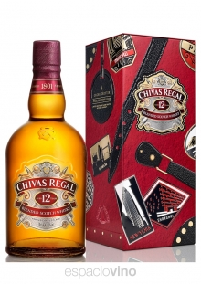 Chivas Regal 12 Años Whisky Lata Globe Trotter 750 ml