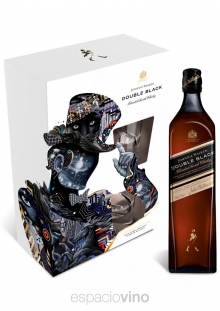 Johnnie Walker Double Black Label Whisky 750 ml + 2 Vasos