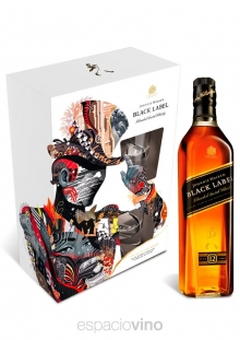Johnnie Walker Black Label Whisky 750 ml + 2 Vasos