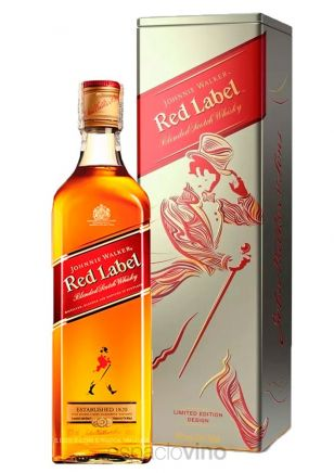 Johnnie Walker Red Label Whisky Lata 750 ml