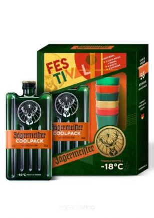 Jagermeister Licor 350 ml x2 + 6 Shots