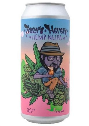 Brew House Jack Herer Hemp NEIPA Cerveza Lata 473 ml