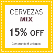 Cervezas MIX 15% OFF